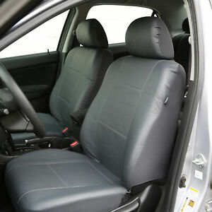 Pu Leather Front Bukcet Seat Covers Fair For Car Suv Van Universal Gray