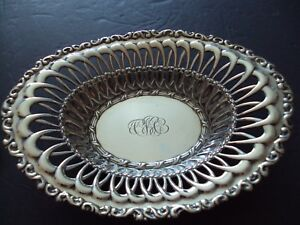 Sterling Silver Basket William Wise And Sons Brooklyn Ny 1824 1903