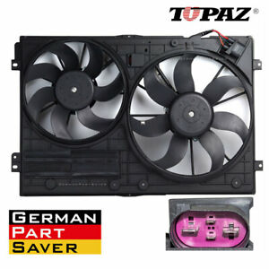 Radiator Dual Cooling Fan Assembly For Volkswagen Beetle Golf Jetta Rabbit
