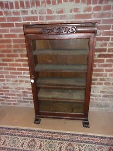 Antique Oak Bookcase Claw Feet Original Finish Selling Out