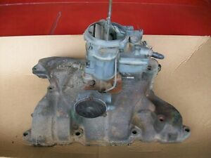 1963 Buick Lesabre 2 Barrel Manifold And Carb 2 Jet Rochester 401 Nailhead