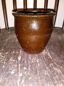Early Redware Apple Butter Jar 1800s