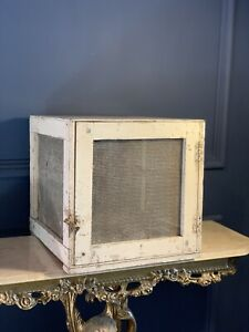 Vintage Meat Cheese Safe Shabby Industrial Cupboard Cabinet Retro Pantry Storage