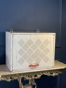 Vintage Metal Meat Cheese Safe Shabby Industrial Cupboard Cabinet Retro Storage