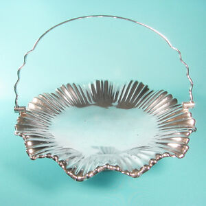 Antique Victorian Mappin Webb Pleated Silver Plate Bride S Basket Superb