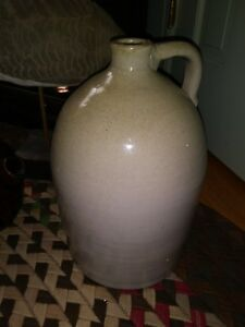 Large Antique Stoneware Jug Beehive Shaped Pottery Jug Country Americana