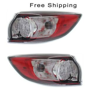 Led Type Tail Lamp Assembly Set Of 2 Lh Rh Side Fits Mazda 3 Hatchback 10 2013