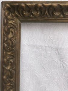 Vintage Antique Picture Frame 26x18 Style Baroque Classic Brown Ornate Wood