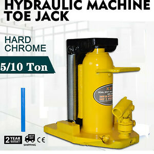Professional Hydraulic Machine Toe Jack Lift 5 Ton W Top 10 Ton Free Shipping
