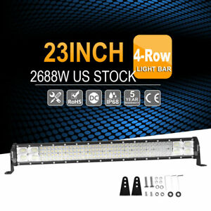 Quad Row 2688w 23 inch Osram Led Light Bar Combo Driving Lamp 4wd For Jeep 22