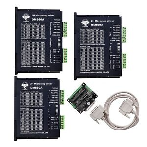 3 Axis Stepper Motor Driver Dm860a 7 8 A controller For Nema 34 Longs Motor
