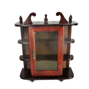 Small Kitchen Apothecary Bathroom Wall Hanging Cabinet Display 70s 80s