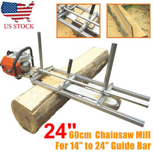 Us Fit 14 24 36 48 Chainsaw Guide Bar Chain Saw Mill Planking Lumber Cutting