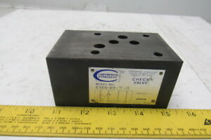 Continental Hydraulics C12s dt 7 g Pilot Operated Check Valve Sandwich Module
