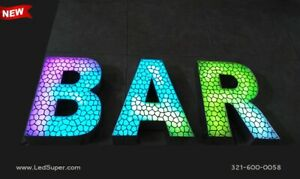 New Led Channel Letter Sign 20 Beautiful Textured Face Rgb Magic Color