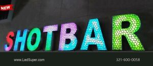 New Led Channel Letter Sign 18 Beautiful Textured Face Rgb Magic Color