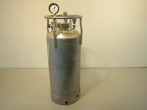 Stainless Water Tank Pressure W Fittings Regulator And Pressure Guage