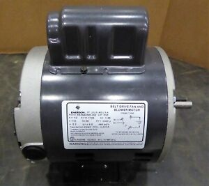 Emerson Motor R63nxdnh 202 Belt Drive Fan And Blower Motor 1 2 Hp
