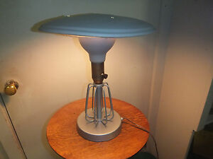 Antique Vintage Industrial Table Lamp 14 Tall 12 Diameter