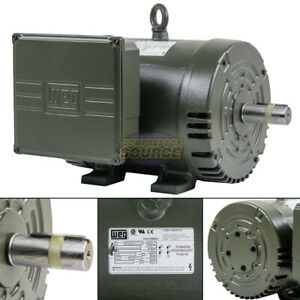 5hp Single Phase Electric Motor Air Compressor Duty 184t Frame 3450 3500 Rpm Weg
