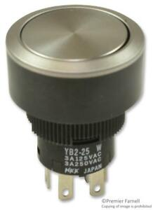 Switch Pushbutton Non illuminated Dpdt 3a 250vac Nwk Pn Yb225cwcpw01 n p