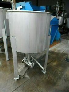 Stainless Steel Tank On Legs 110 Gallon Capacity