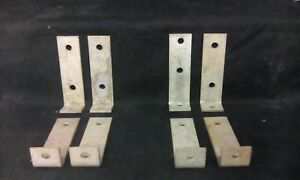 Vintage Set Of 4 Metal Rustic Hardware L Brackets