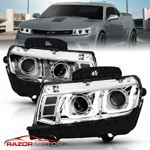 Ccfl U Style Tube 2014 2015 Chevy Camaro Projector Chrome Headlights Pair
