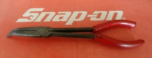 Snap On Tools 11 Long Soft Grip 35 Bent Needle Nose Pliers