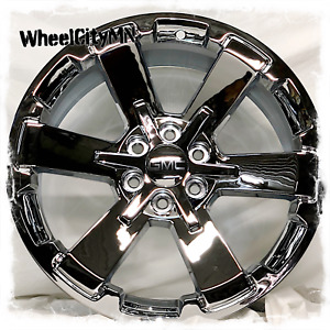 22 X9 Chrome 2018 Chevy Silverado Rally 5662 Oe Replica Wheels Gmc Denali 6x5 5