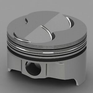 Icon Forged Piston Set Fits Chevy 377 Rod 5 700 Solid Dome 6 3cc 2v