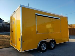 Used 8 6 X 16 food Mobile Kitchen Concession Trailer in Nice Condition