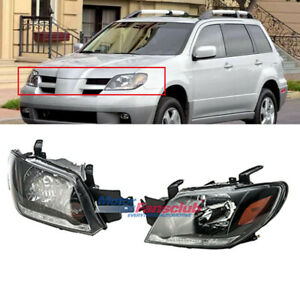 For Mitsubishi Outlander 2003 2006 Set Left Right Front Head Lamps Headlights