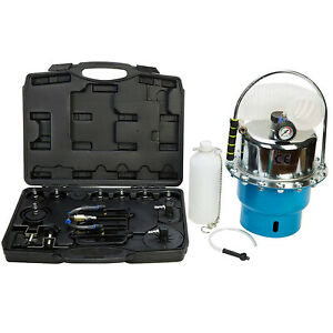 Portable Pneumatic Air Pressure Kit Brake And Clutch Bleeder Valve System Tool