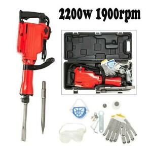 Heavy Duty 2200w Demolition Jack Electric Hammer Concrete Breaker 2 Chisels