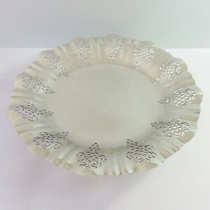 Vintage Imperial Phoenix Silverplate Cupcake Cake Serving Food Dish Bowl Stand