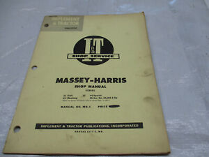 It Shop Service Manual On Massey harris 21 Colt