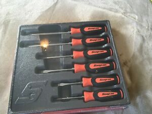 Snap On Sgdx60bo 6 Pc Soft Grip Combination Screwdriver Set New