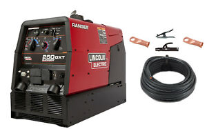 Lincoln Ranger 250 Gxt Engine Welder Generator K2382 4 With Cable Package