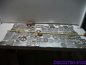 Qty 125 Pieces Mix Lot Metal Electrical Boxes Covers New Used