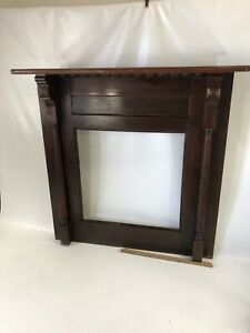 Beautiful 1890 S Antique Fir Fireplace Mantle Solid Wood