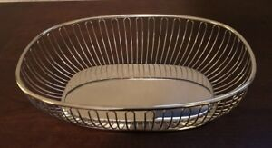 Vintage 1960s Silverplate Bread Basket Art Deco Made In Italy Excellent Cond