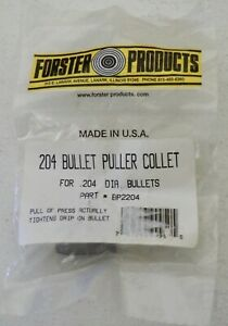 Forster Bullet Puller Collet .204-(BP2204) NEW in Package