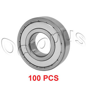 100 Pcs Premium 6904 Zz Abec3 Metal Shields Deep Groove Ball Bearing 20x37x9mm