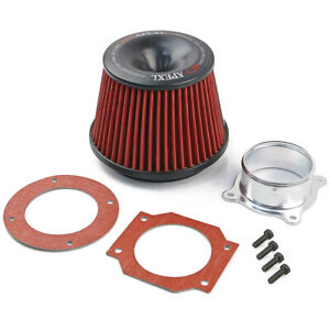 New Apexi Power Intake Air Filter W 2 75 Inlet Flange Adapter For Universal