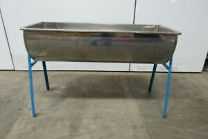 Custom Fab Stainless Steel Wash Bay Drink Ice Tub Tank On Stand 18 1 2 x 48 1 2