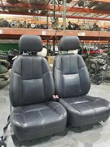 2008 Gmc Denali Yukon Xl Front Seat Set Oem Electric Leather Good Condition