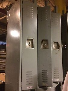 Metal Lockers Lot 24 Used 1 2 Half Door Storage Employee School Store Backroom