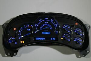 5x 05 06 2005 2006 Rebuilt Premium Black Face Blue Led Whole Instrument Cluster