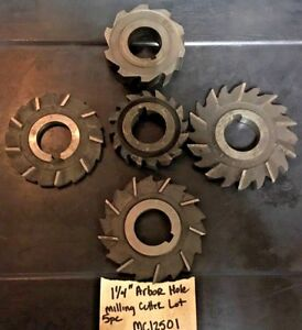 Horizontal Milling Machine Cutter Lot 1 1 4 Arbor Hole Machinist Tool Saw